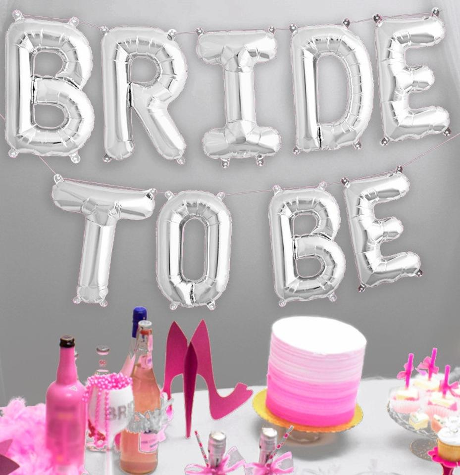 Bride To Be Mylar Letter Balloons Bride
