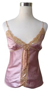 Tea/f Lace Sequin Top Pink
