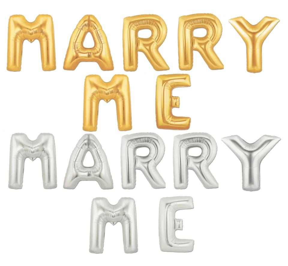 silver 40 big marry me mylar letter balloons bride bridal party balloon party centerpieces table ceremony decoration