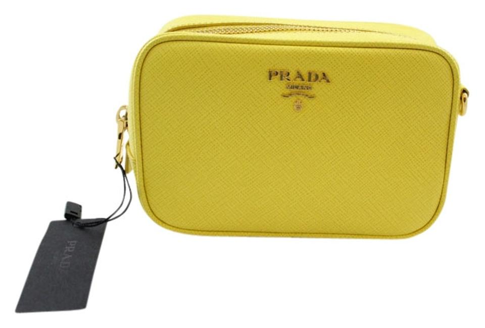9217d1c4241949 Prada Camera Saffiano Leather Leather Small Cross Body Bag Image 0 ...