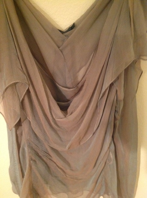 Donna Karan Silk Chiffon 2 Pieces Amazing Top Cactus Image 1