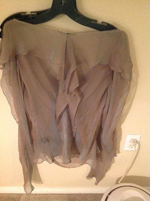 Donna Karan Silk Chiffon 2 Pieces Amazing Top Cactus Image 3