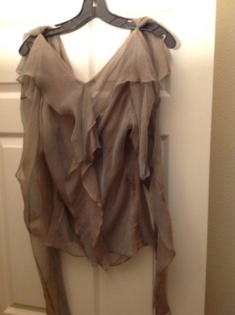 Donna Karan Silk Chiffon 2 Pieces Amazing Top Cactus