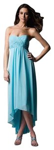 David's Bridal Pool Cocktail Prom Bridesmaid Turquoise Dress