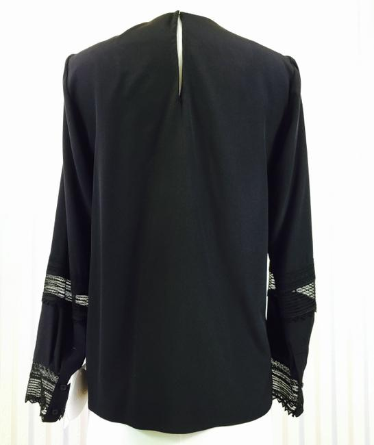 Chloé Black Lace Silk Longsleeve Urpersonalshoppers Top