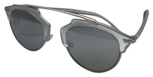 Dior New CHRISTIAN DIOR Sunglasses DIOR SO REAL RMRLR Silver Frames w/ Silver Mirror