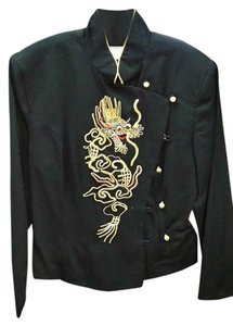Other BLACK WITH EMBROIDERED DRAGON Jacket