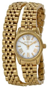 Michael Kors Michael Kors Champagne Dial Gold-toneDouble Wrap Bracelet Ladies Watch