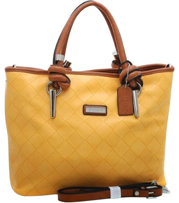 Item - Yellow Faux Leather Tote