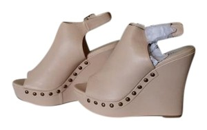 Bucco Natural, nude Wedges