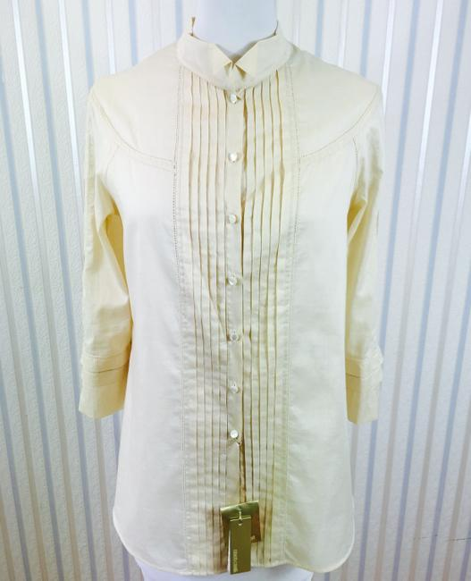 Roberto Cavalli Beige Blouse Shirt Urpersonalshoppers Button Down Shirt