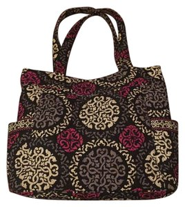 Vera Bradley Tote in Black, Magenta, White, Gray, Patterned