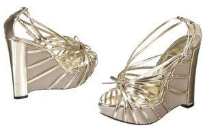 Christian Dior Gold Platforms