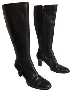 AK Anne Klein Black Leather Boots