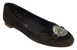 Chanel Ballerina Suede Brown Flats