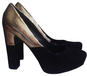 Sigerson Morrison Belle By Black/Gold Platforms