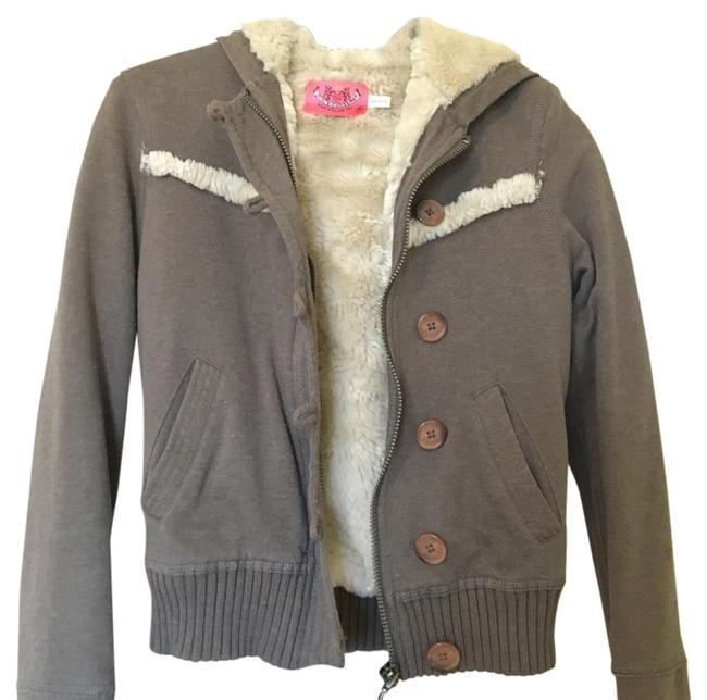 Item - Brown Hooded Coat Size 0 (XS)