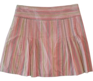 J.Crew Mini A-line Mini Skirt pink, green, gray, yellow