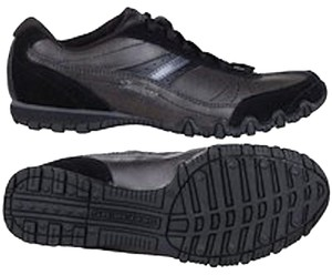 Skechers Memory Foam Leather Relaxed Fit Black Athletic