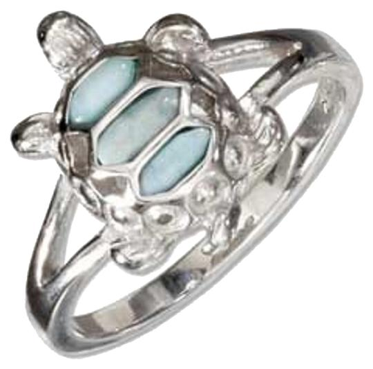 Other STERLING SILVER LARIMAR TURTLE RING