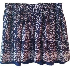 Vince Camuto Lined Pockets A-line Skirt blue and white