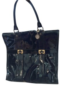 Lanvin Patent Leather Medallion Tote in Black