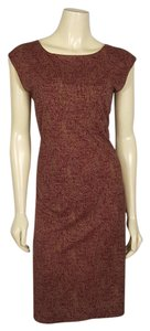 Lauren Ralph Lauren short dress Burgundy, Brown and Black on Tradesy