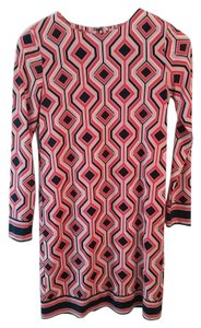Michael Kors short dress coral, black, pink geometric on Tradesy