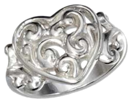 Other STERLING SILVER FILIGREE HEART RING WITH SCROLLS