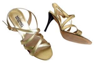 Michael Kors Open Toe Wedding Formal Gold Sandals