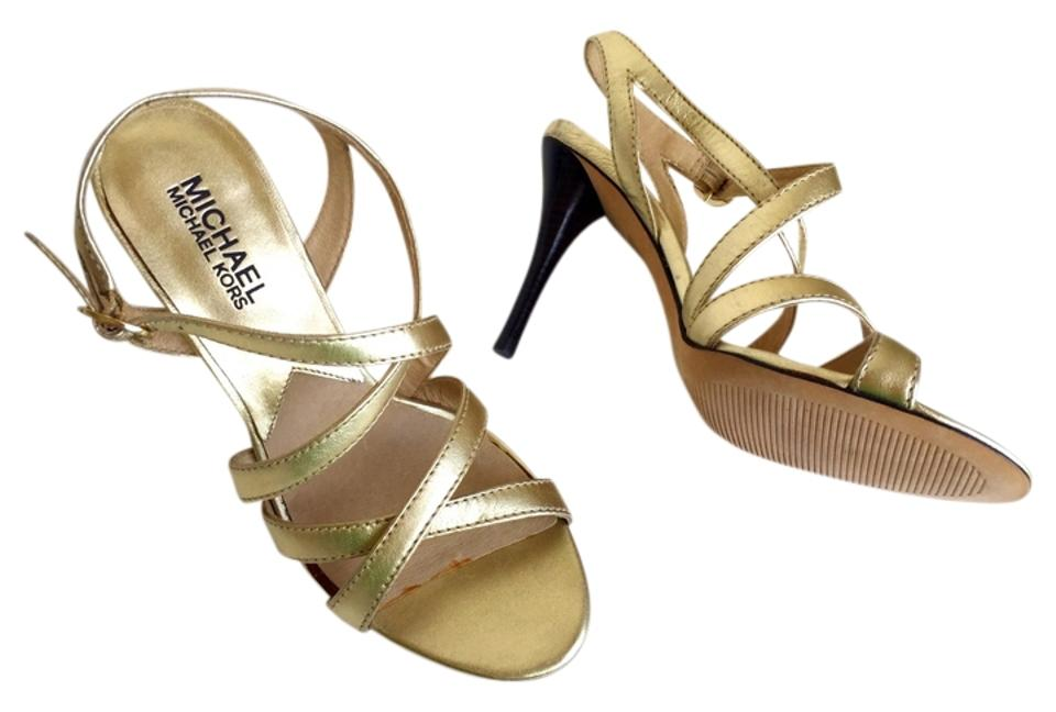 4b36af086ab Michael Kors Gold Evening Wedding Stiletto Sandals Size US 6 Regular ...