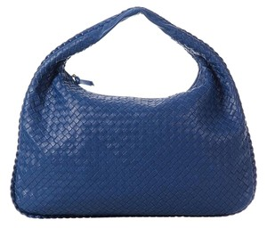 Bottega Veneta Blue Woven Large Bv.k0411.02 Leather Hobo Bag