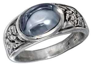 Other STERLING SILVER FLORAL OVAL HEMATITE RING