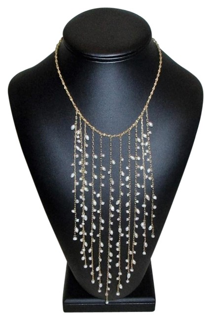 Item - Gold & Pearl Elwarder's Cascade Of Freshwater Necklace