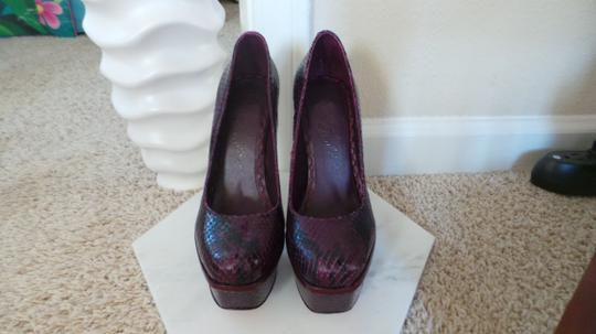 Alice + Olivia Purple Platforms