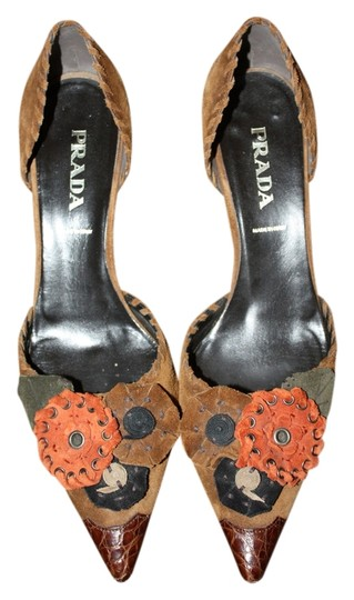 Prada Brown Suede Pumps