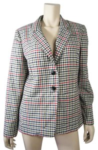Liz Claiborne Black/Red Check Blazer