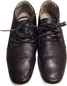 Steve Madden Leather Like New Men's Black Flats