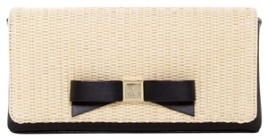 Kate Spade Straw/Black Clutch