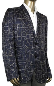 Gucci Men's Horsebit Blue Blazer