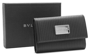 BVLGARI Authentic Bvlgari Mirerige 6 Leather Key Holder Coin Case ID Card