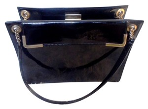 Patent Leather Satchel in Black