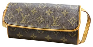 Louis Vuitton Pochette Twin Brown Clutch