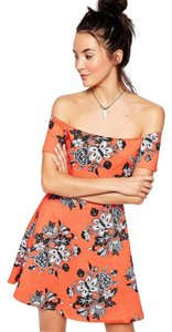 Motel Rocks Offtheshoulder Minidress Flowerprint Skaterdress Dayornight Dress