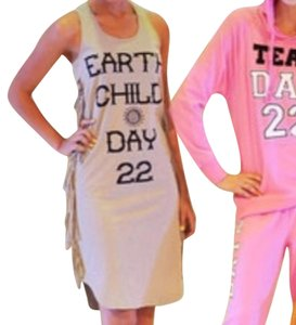 Day 22 clothing line by katie price, UK celebrity short dress Tan, neutral, Black on Tradesy