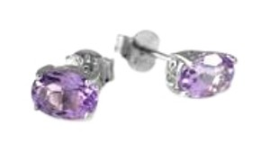 Other 9.2.5 Natural Amethyst Stud Earrings