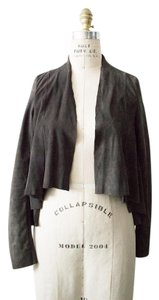 Muubaa Suede Draped brown Leather Jacket