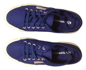 Superga Intense Blue Flats