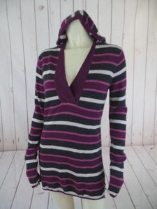 Michael Stars Anthropologie Hoodie Fine Wool Modal Cashmere Striped Sweater