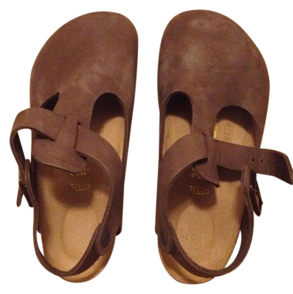 pretty nice 161a2 b7cb9 Birkenstock Mocca Brown Leather Bonn Classic Buckle Mules/Slides Size US  5.5 Regular (M, B)
